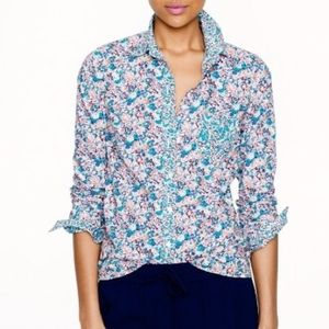 J. Crew Liberty Art Fabrics Floral Boy Shirt Sz 6